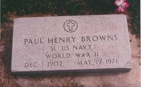 BROWNS, PAUL - Clarke County, Iowa   PAUL BROWNS