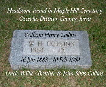 COLLINS, WILLIAM HENRY - Clarke County, Iowa | WILLIAM HENRY COLLINS