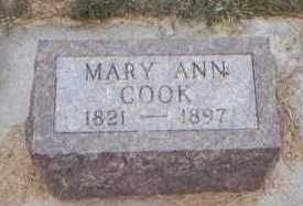 COOK, MARY ANN - Clarke County, Iowa | MARY ANN COOK