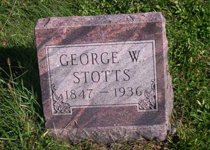 GEORGE WASHINGTON, STOTTS - Clarke County, Iowa | STOTTS GEORGE WASHINGTON
