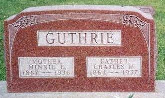 GUTHRIE, MINNIE EMELIA - Clarke County, Iowa | MINNIE EMELIA GUTHRIE