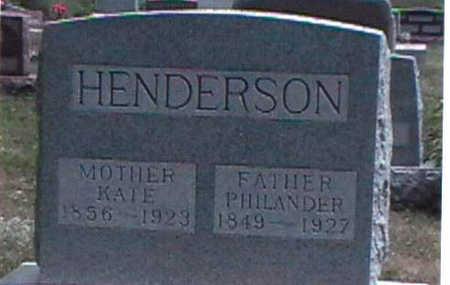 HENDERSON, PHILANDER HAMILTON - Clarke County, Iowa | PHILANDER HAMILTON HENDERSON