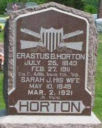 HORTON, ERASTUS - Clarke County, Iowa | ERASTUS HORTON
