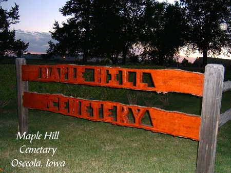 MAPLE HILL, CEMETERY - Clarke County, Iowa | CEMETERY MAPLE HILL
