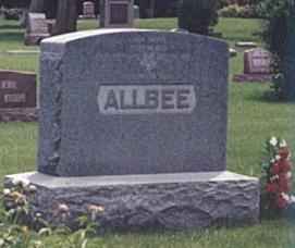 ALLBEE, HEADSTONE - Clay County, Iowa | HEADSTONE ALLBEE