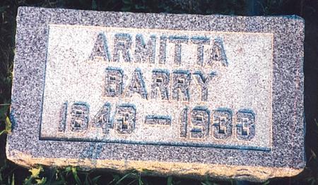 BARRY, ARMITTA - Clay County, Iowa | ARMITTA BARRY