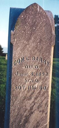 BARRY, DON CARLOS - Clay County, Iowa   DON CARLOS BARRY
