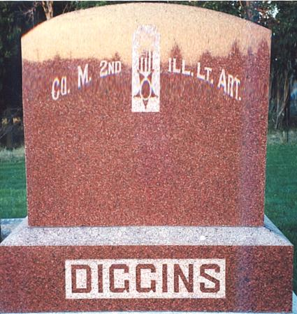 DIGGINS, HEADSTONE - Clay County, Iowa | HEADSTONE DIGGINS