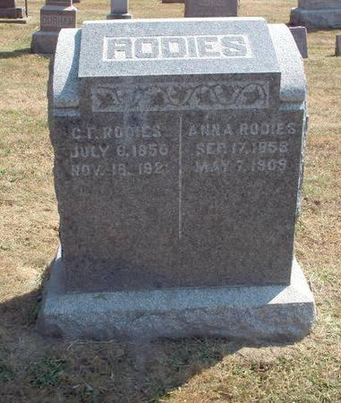 RODIES, ANNA - Clayton County, Iowa | ANNA RODIES