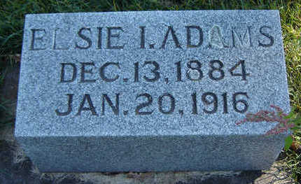 ADAMS, ELSIE I. - Clayton County, Iowa | ELSIE I. ADAMS
