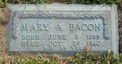 BACON, MARY A. - Clayton County, Iowa | MARY A. BACON