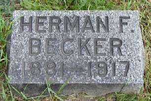 BECKER, HERMAN F. - Clayton County, Iowa | HERMAN F. BECKER