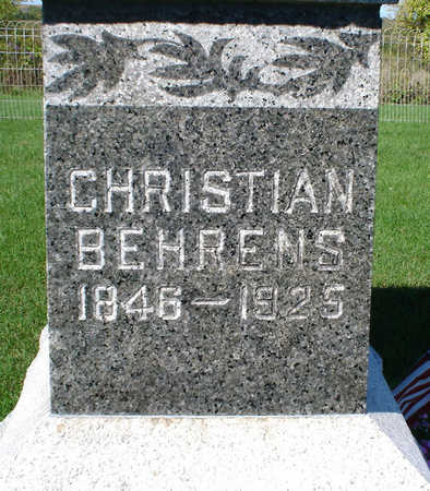 BEHRENS, CHRISTIAN - Clayton County, Iowa | CHRISTIAN BEHRENS