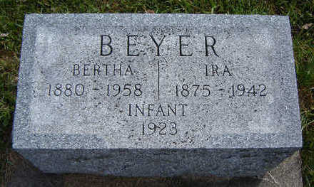 BEYER, BERTHA - Clayton County, Iowa | BERTHA BEYER