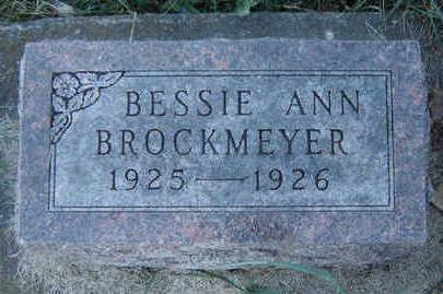 BROCKMEYER, BESSIE ANN - Clayton County, Iowa | BESSIE ANN BROCKMEYER