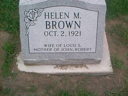 BROWN, HELEN M. - Clayton County, Iowa | HELEN M. BROWN