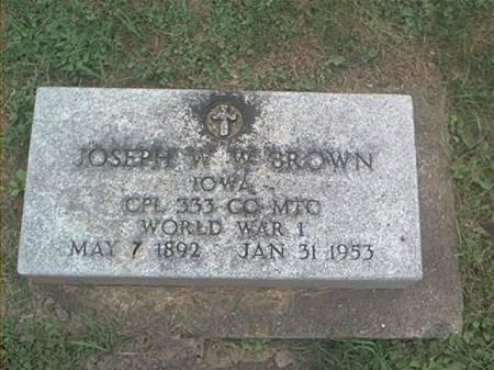 BROWN, JOSEPH W - Clayton County, Iowa   JOSEPH W BROWN