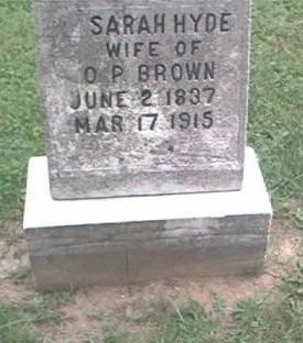 BROWN, SARAH HYDE (MRS. O.P.) - Clayton County, Iowa | SARAH HYDE (MRS. O.P.) BROWN