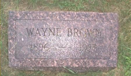 BROWN, WAYNE - Clayton County, Iowa | WAYNE BROWN