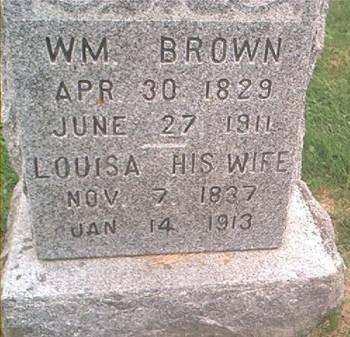 BROWN, WILLIAM & LOUISA - Clayton County, Iowa | WILLIAM & LOUISA BROWN