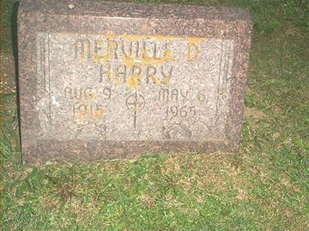 HARRY, MERVILLE D. - Clayton County, Iowa | MERVILLE D. HARRY