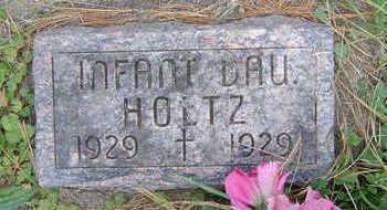 HOLTZ, INFANT - Clayton County, Iowa   INFANT HOLTZ