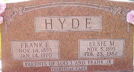 HYDE, ELSIE M. - Clayton County, Iowa | ELSIE M. HYDE