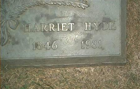 HYDE, HARRIET - Clayton County, Iowa | HARRIET HYDE