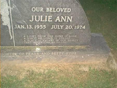 HYDE, JULIE ANN - Clayton County, Iowa | JULIE ANN HYDE
