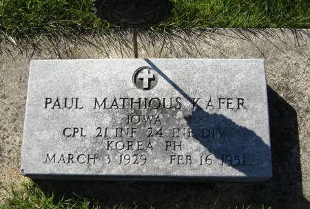 KAFER, PAUL MATHIOUS - Clayton County, Iowa | PAUL MATHIOUS KAFER