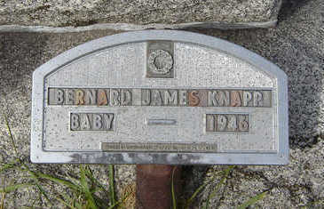 KNAPP, BERNARD JAMES - Clayton County, Iowa | BERNARD JAMES KNAPP