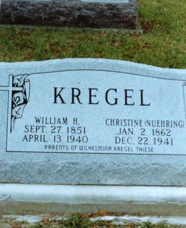 KREGEL, WILLIAM - Clayton County, Iowa | WILLIAM KREGEL