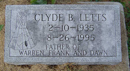 LETTS, CLYDE B. - Clayton County, Iowa | CLYDE B. LETTS