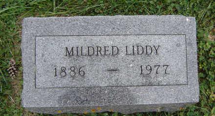 LIDDY, MILDRED - Clayton County, Iowa   MILDRED LIDDY