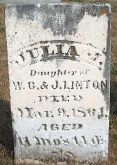 LINTON, JULIA - Clayton County, Iowa | JULIA LINTON