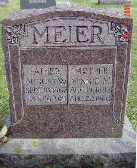 MEIER, MINNIE M. - Clayton County, Iowa | MINNIE M. MEIER