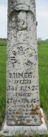 MINER, THOMAS E. - Clayton County, Iowa | THOMAS E. MINER