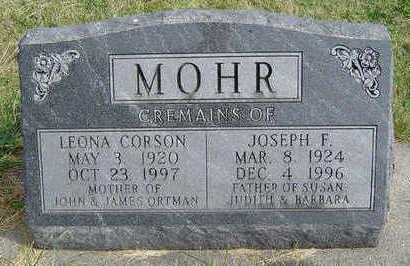 CORSON MOHR, LEONA - Clayton County, Iowa | LEONA CORSON MOHR