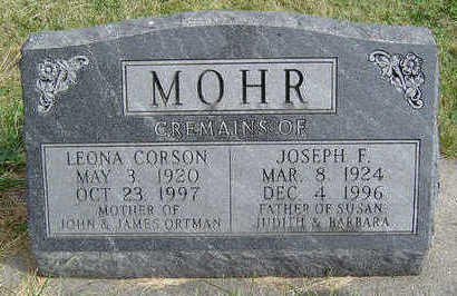 MOHR, LEONA - Clayton County, Iowa | LEONA MOHR