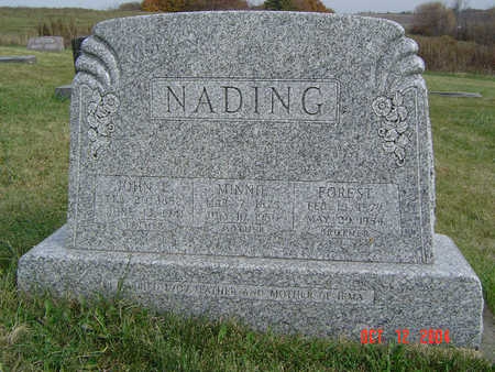 NADING, MINNIE - Clayton County, Iowa | MINNIE NADING