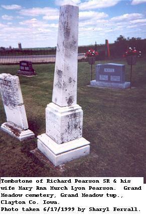 PEARSON, RICHARD SR & MARY ANN (MURCH LYON) - Clayton County, Iowa | RICHARD SR & MARY ANN (MURCH LYON) PEARSON