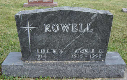 THURN ROWELL, LILLIE E. - Clayton County, Iowa | LILLIE E. THURN ROWELL