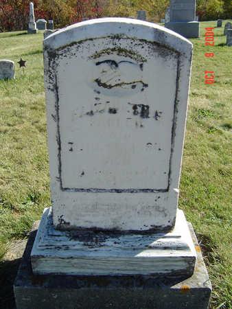 FLEMING SADLER, ELIZABETH EMELINE - Clayton County, Iowa | ELIZABETH EMELINE FLEMING SADLER