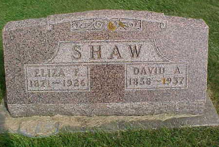SHAW, DAVID A - Clayton County, Iowa | DAVID A SHAW