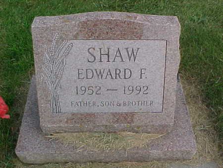 SHAW, EDWARD F. - Clayton County, Iowa | EDWARD F. SHAW