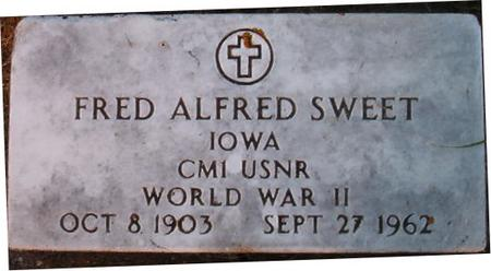 SWEET, FRED ALFRED - Clayton County, Iowa | FRED ALFRED SWEET