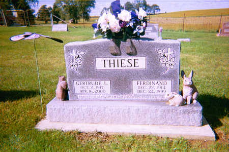 THIESE, GERTRUDE - Clayton County, Iowa | GERTRUDE THIESE