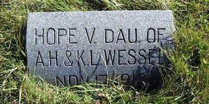 WESSEL, HOPE V. - Clayton County, Iowa   HOPE V. WESSEL