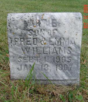 WILLIAMS, ARTIE - Clayton County, Iowa   ARTIE WILLIAMS
