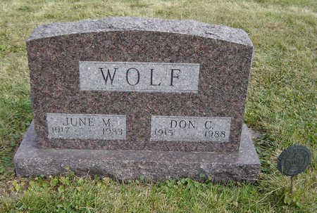 WOLF, DON C. - Clayton County, Iowa | DON C. WOLF